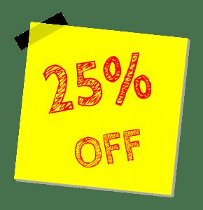 25% kedvezmény MultiEgis